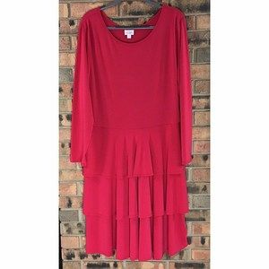 LuLaRoe Georgia Size 3XL Red 3 Tier Skirt Dress